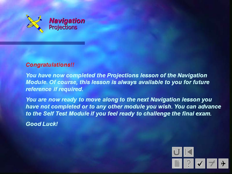 Navigation Projections Congratulations!!