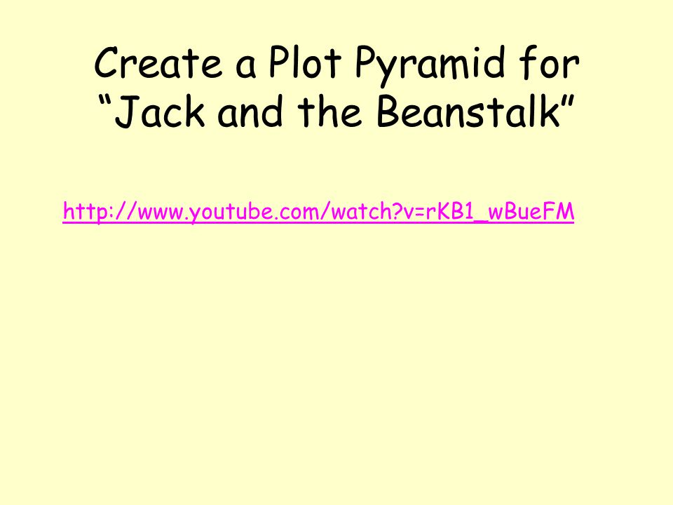 Create a Plot Pyramid for Jack and the Beanstalk