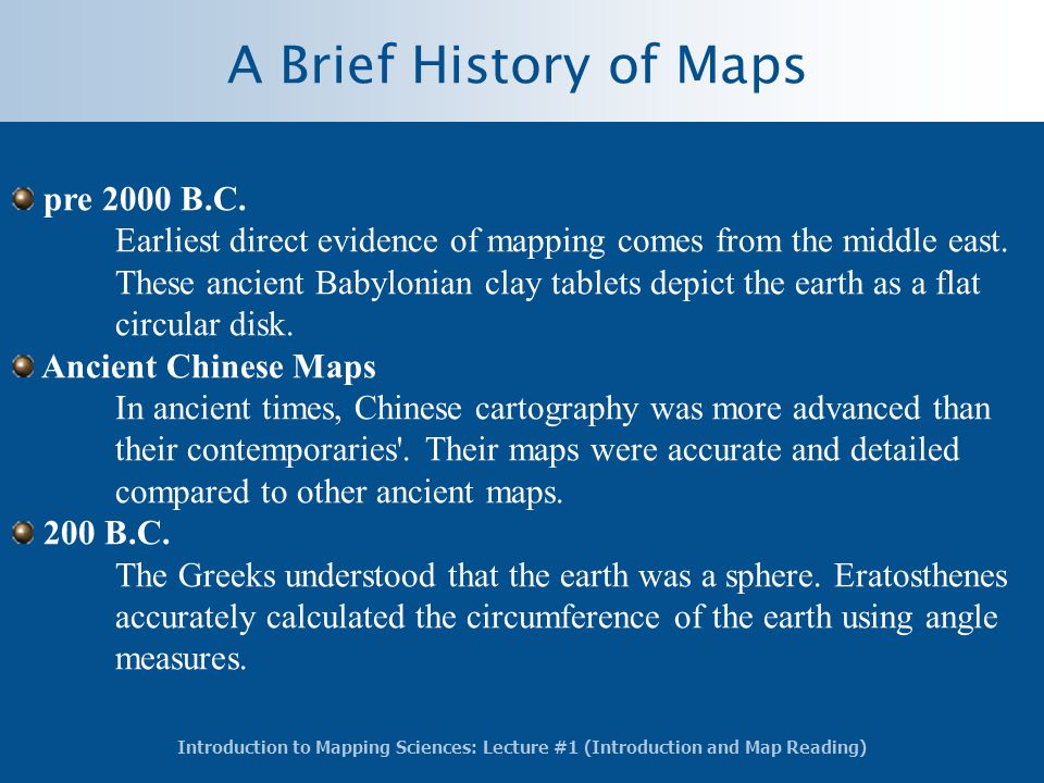 A Brief History of Maps