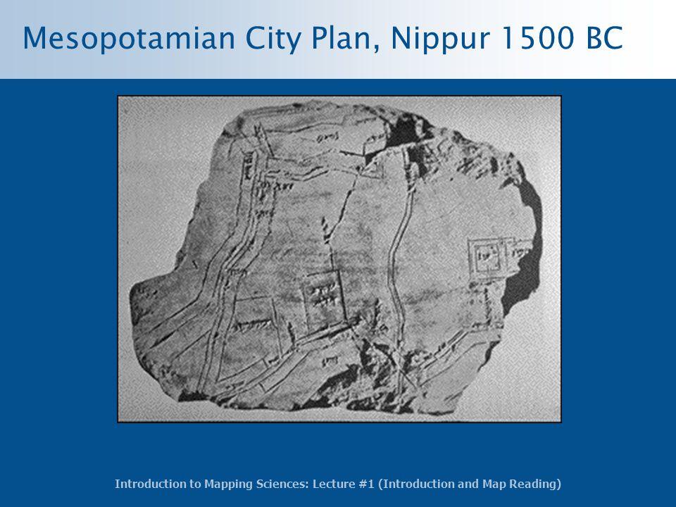 Mesopotamian City Plan, Nippur 1500 BC