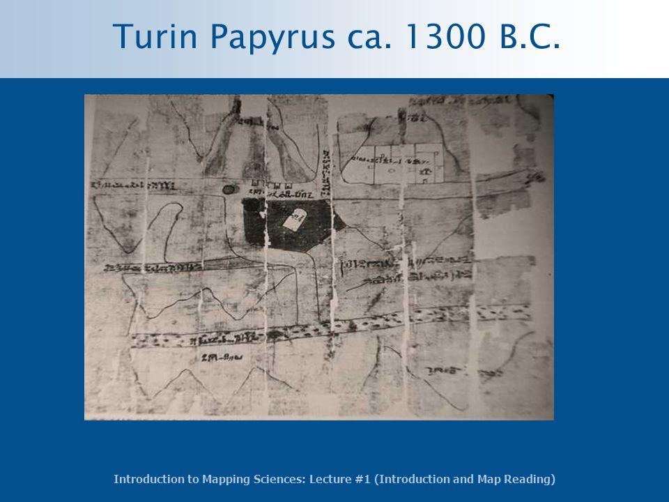 Turin Papyrus ca. 1300 B.C.
