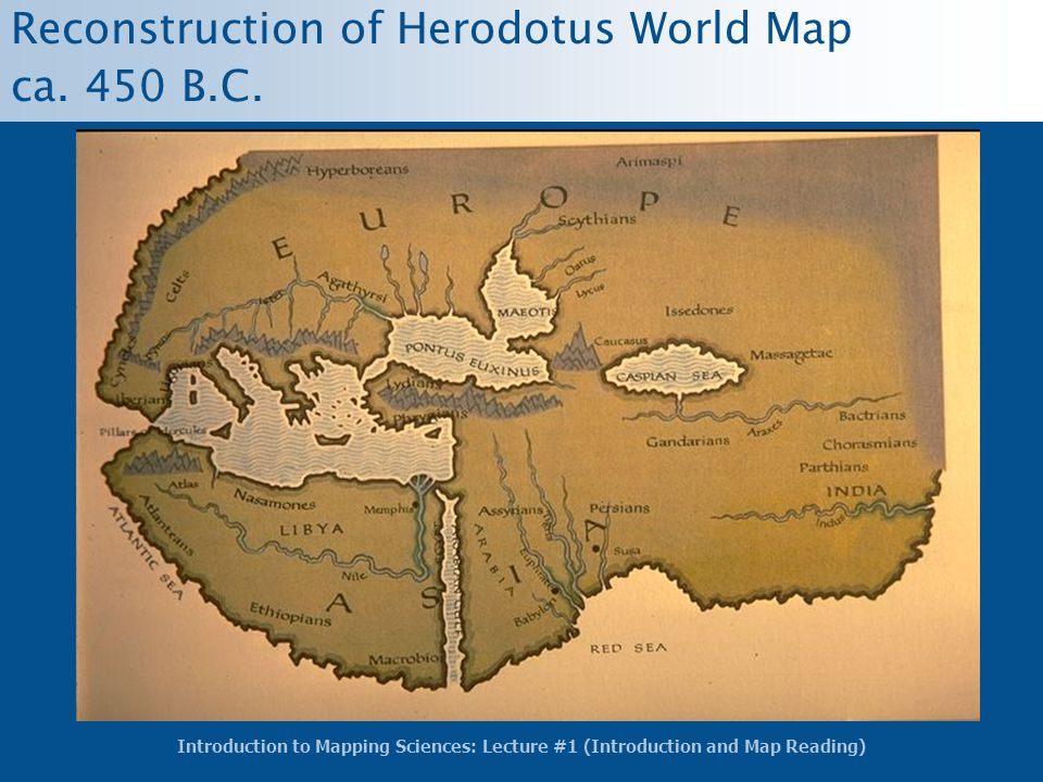 Reconstruction of Herodotus World Map