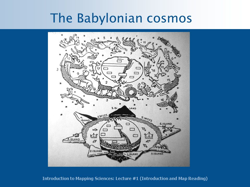 The Babylonian cosmos