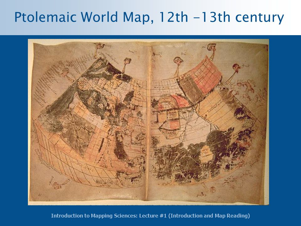 Ptolemaic World Map, 12th -13th century