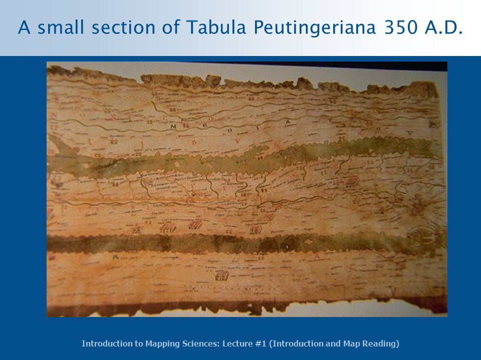 A small section of Tabula Peutingeriana 350 A.D.