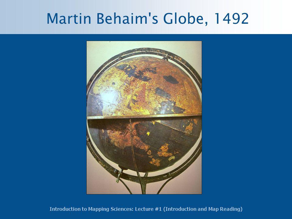 Martin Behaim s Globe, 1492
