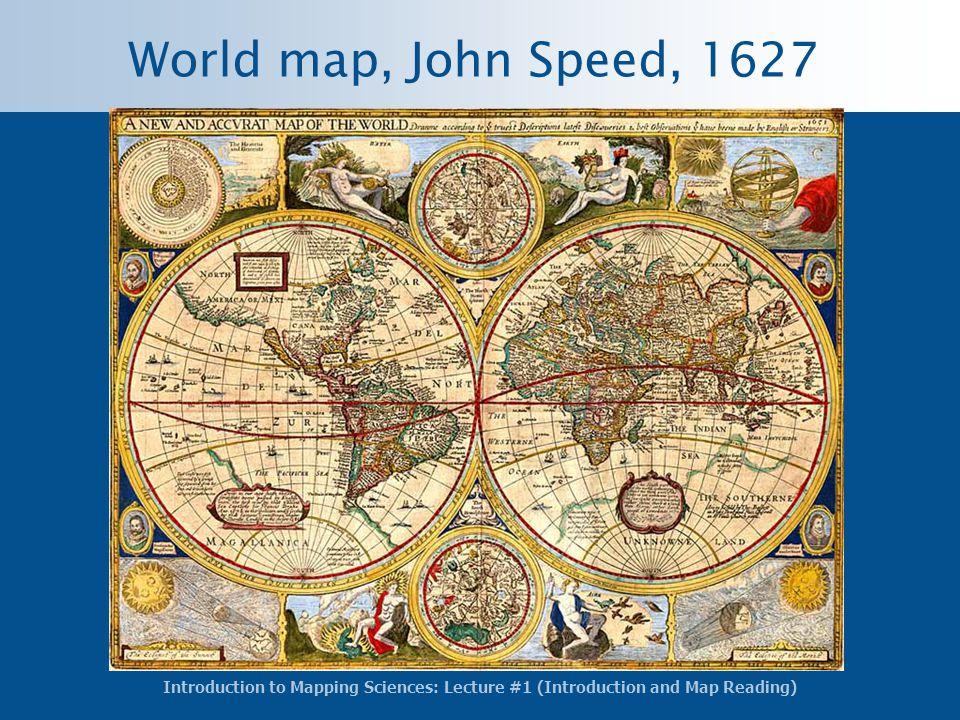 World map, John Speed, 1627