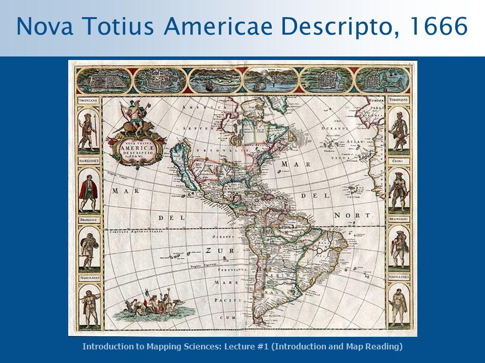 Nova Totius Americae Descripto, 1666