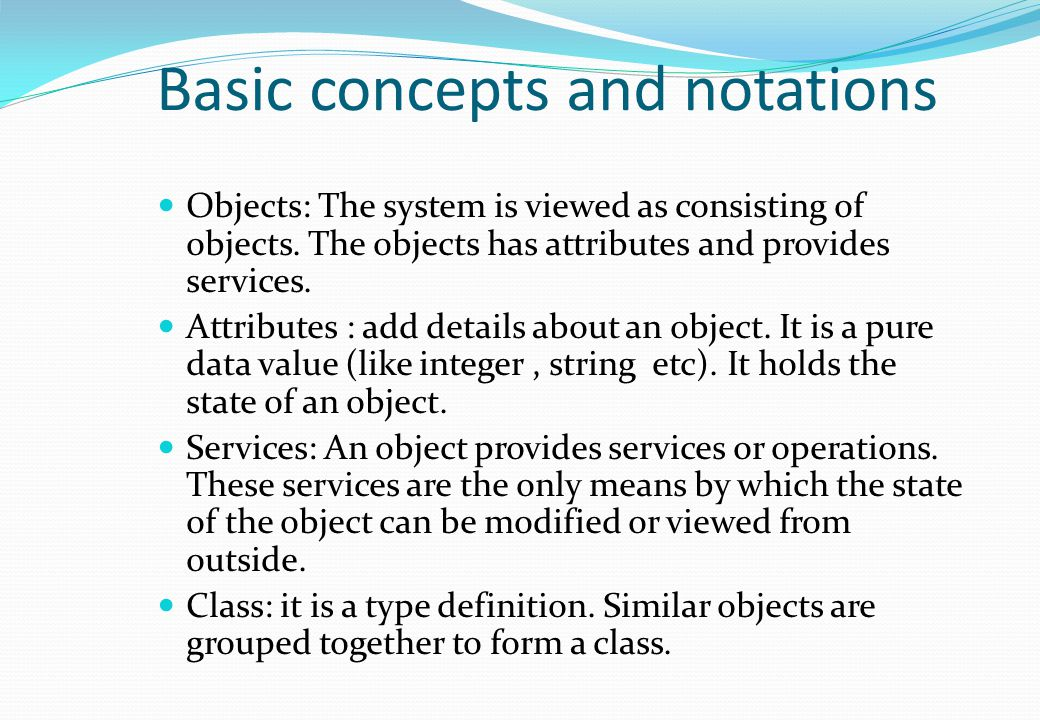 Basic concepts and notations