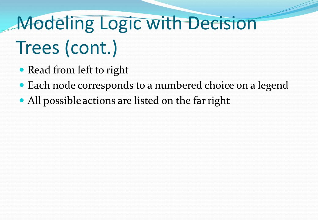 Modeling Logic with Decision Trees (cont.)