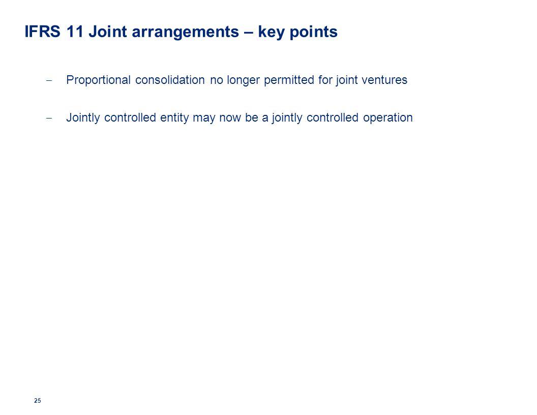 IFRS 11 Joint arrangements – key points