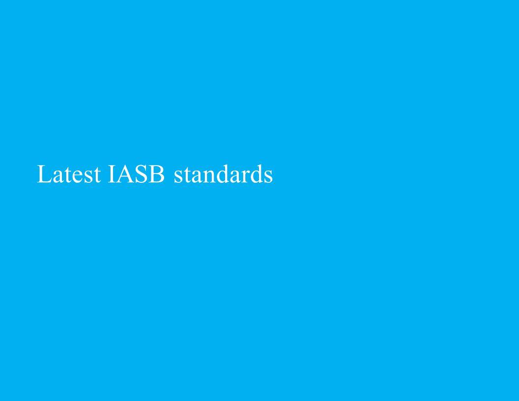 Latest IASB standards