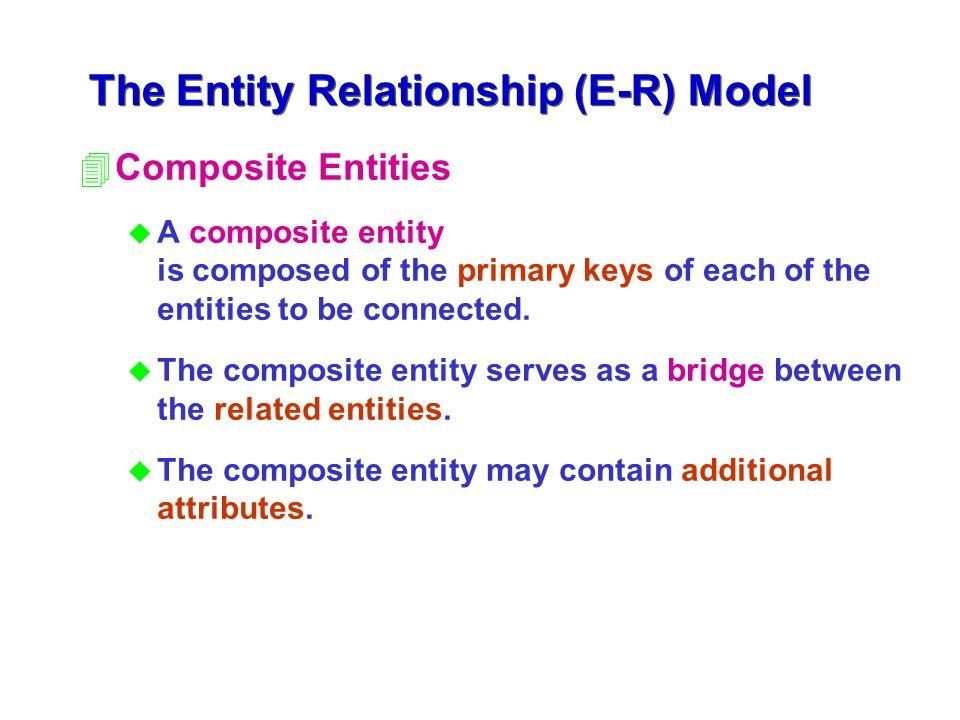 The Entity Relationship (E-R) Model