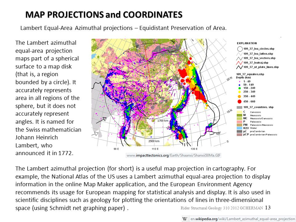 MAP PROJECTIONS and COORDINATES
