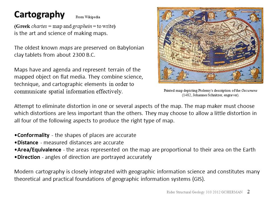 Cartography From Wikipedia. (Greek chartes = map and graphein = to write) is the art and science of making maps.