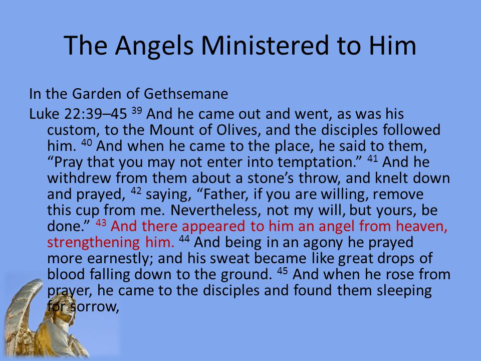 The Angels Ministered to Him