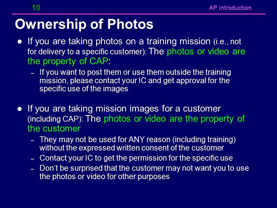 Ownership of Photos