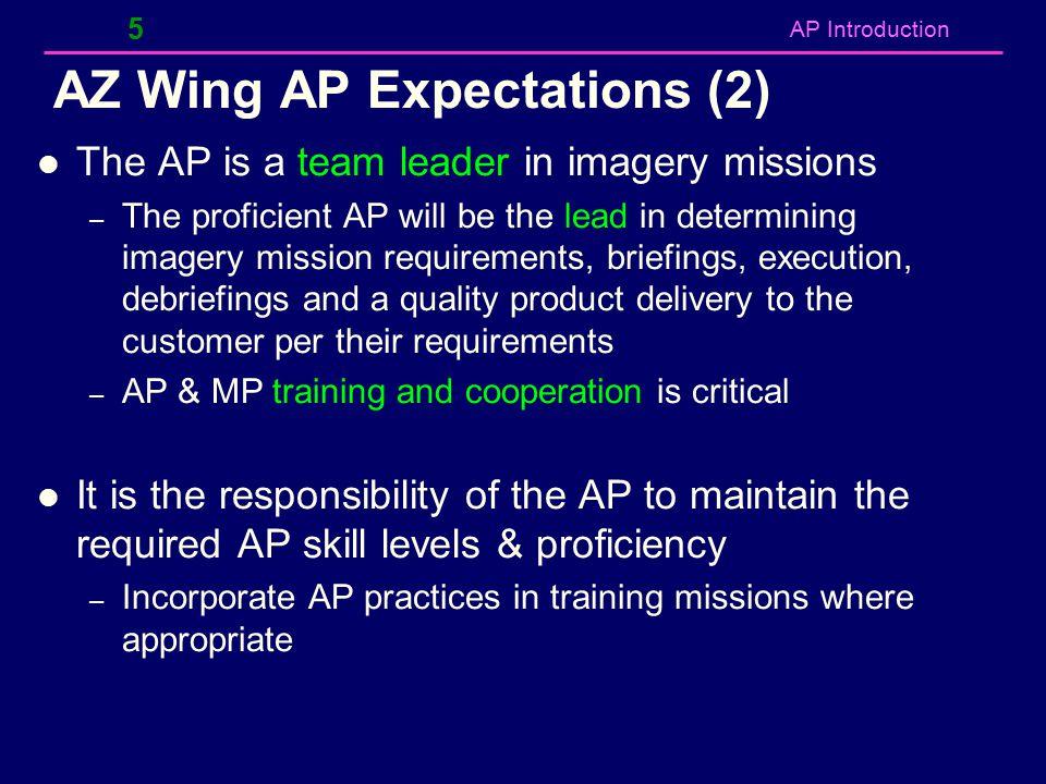 AZ Wing AP Expectations (2)