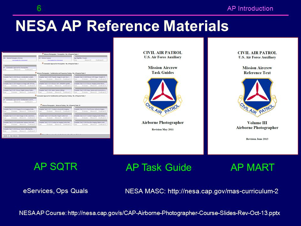 NESA AP Reference Materials