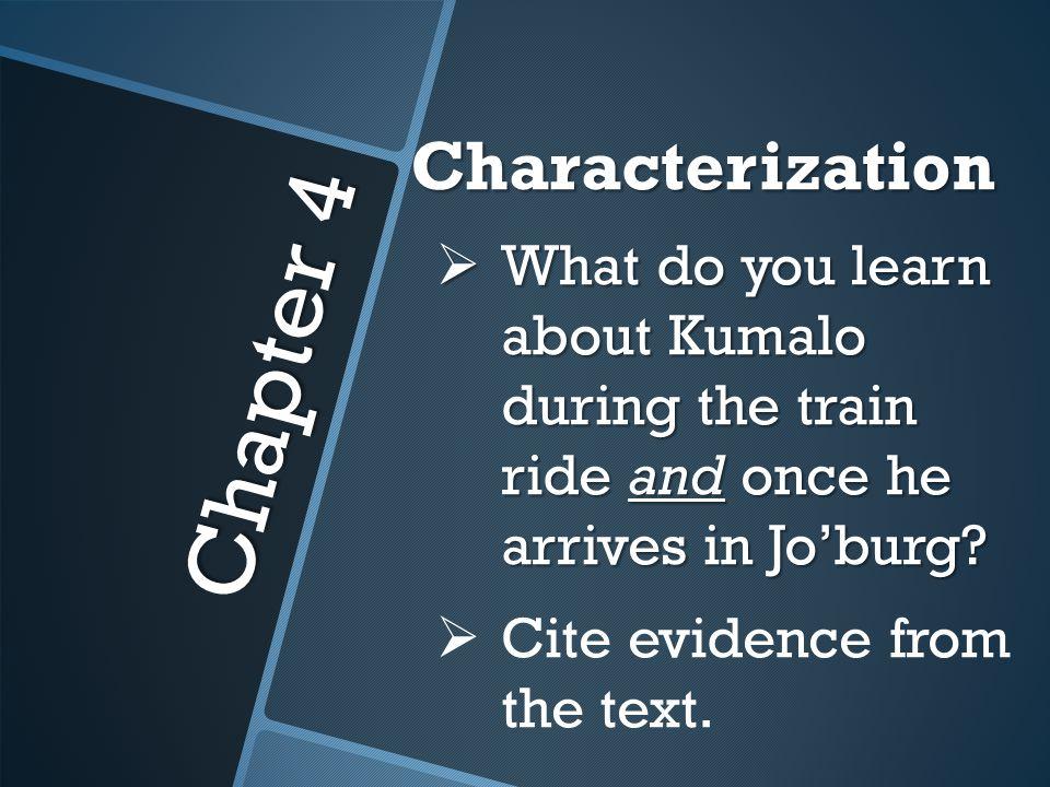 Chapter 4 Characterization