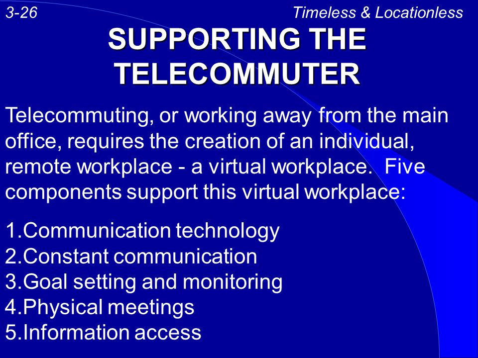 SUPPORTING THE TELECOMMUTER