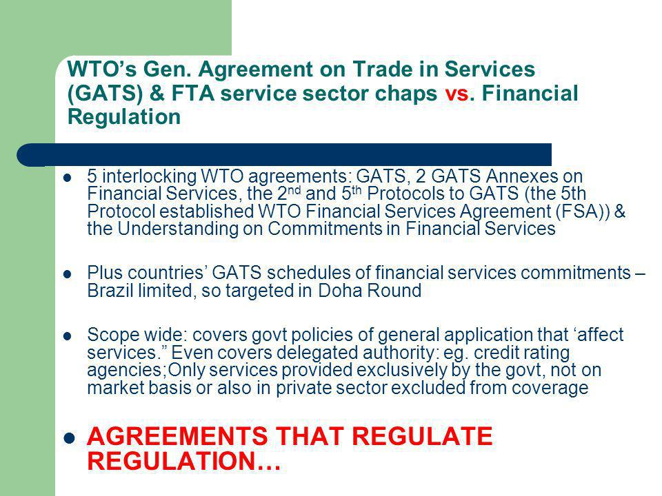AGREEMENTS THAT REGULATE REGULATION…