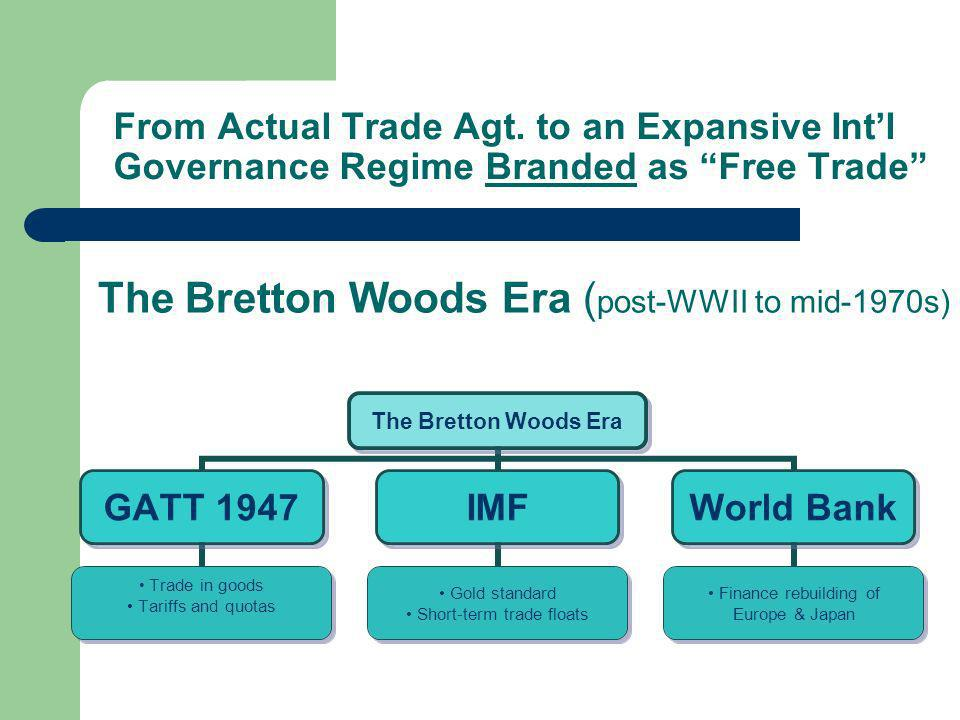 The Bretton Woods Era (post-WWII to mid-1970s)