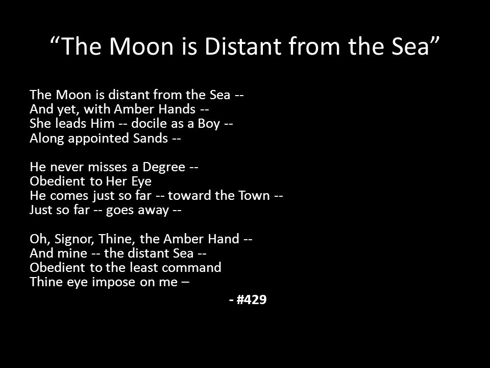 the moon is faded via the sea