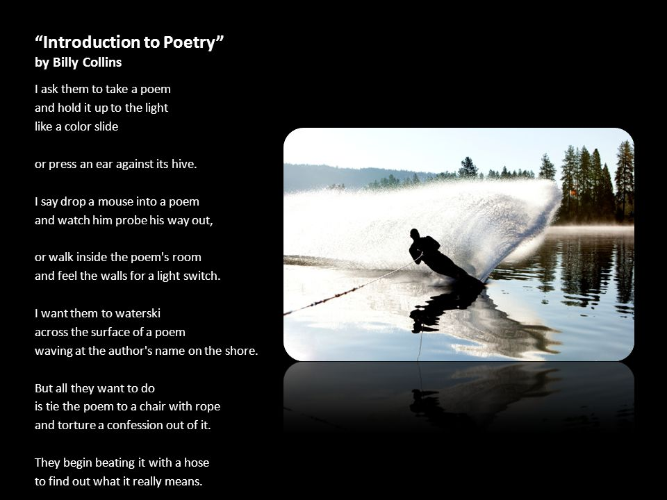Introduction to Poetry by Billy Collins