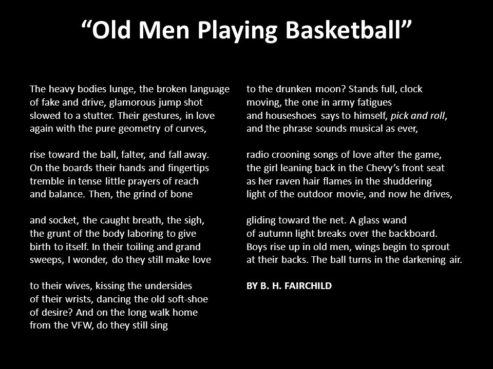 Old Men Playing Basketball