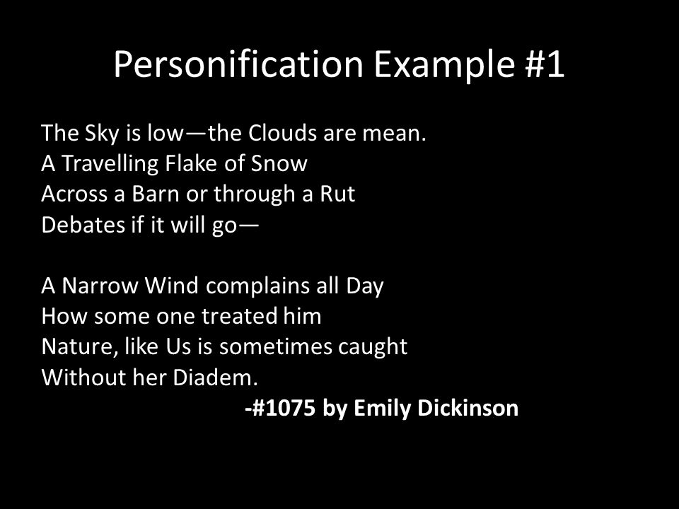 Personification Example #1