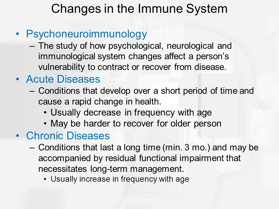 Changes in the Immune System