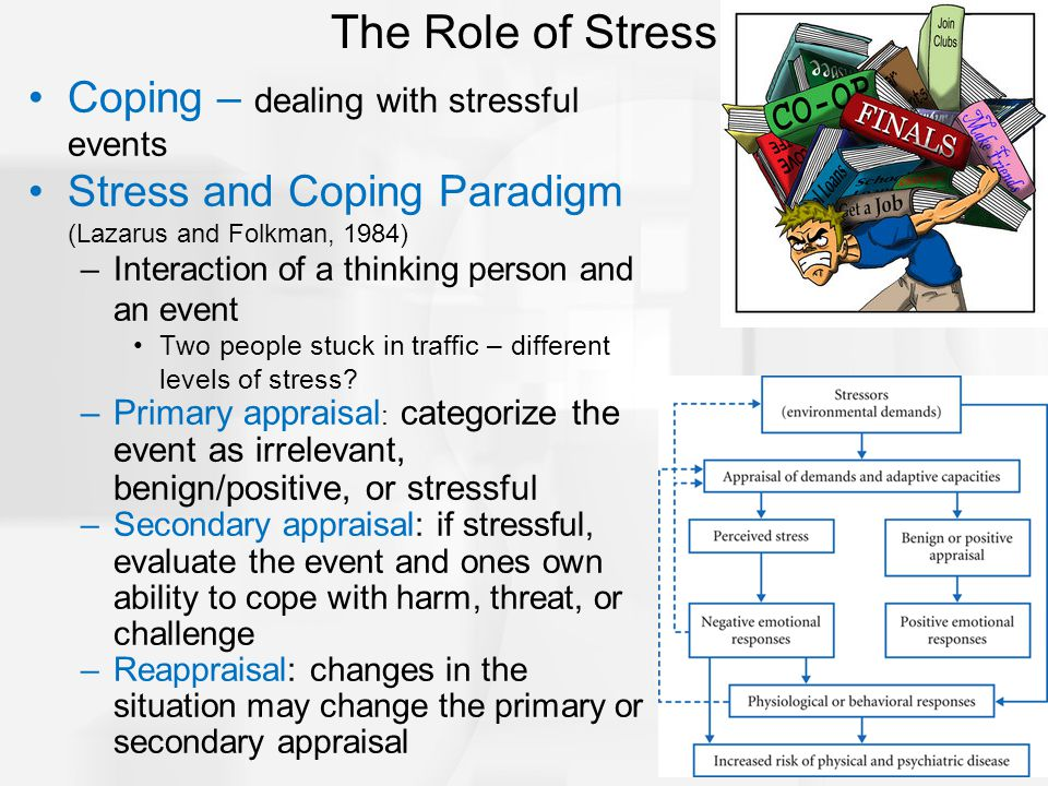 The Role of Stress Coping – dealing with stressful events
