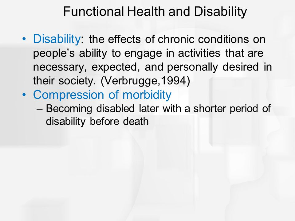 Functional Health and Disability