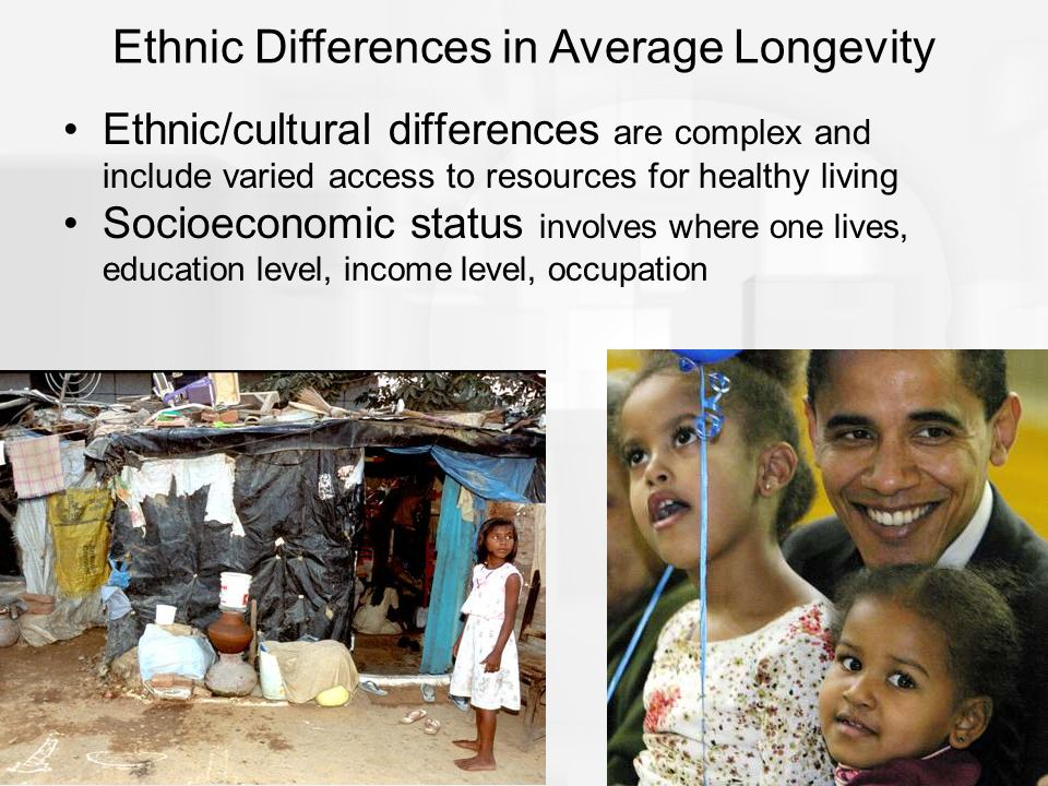 Ethnic Differences in Average Longevity