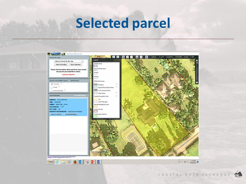 Selected parcel Download Report