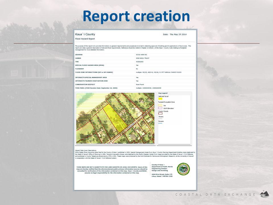 Report creation