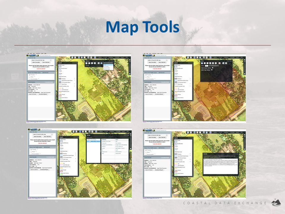 Map Tools Buffer and draw /Identify /Web Link /Measure
