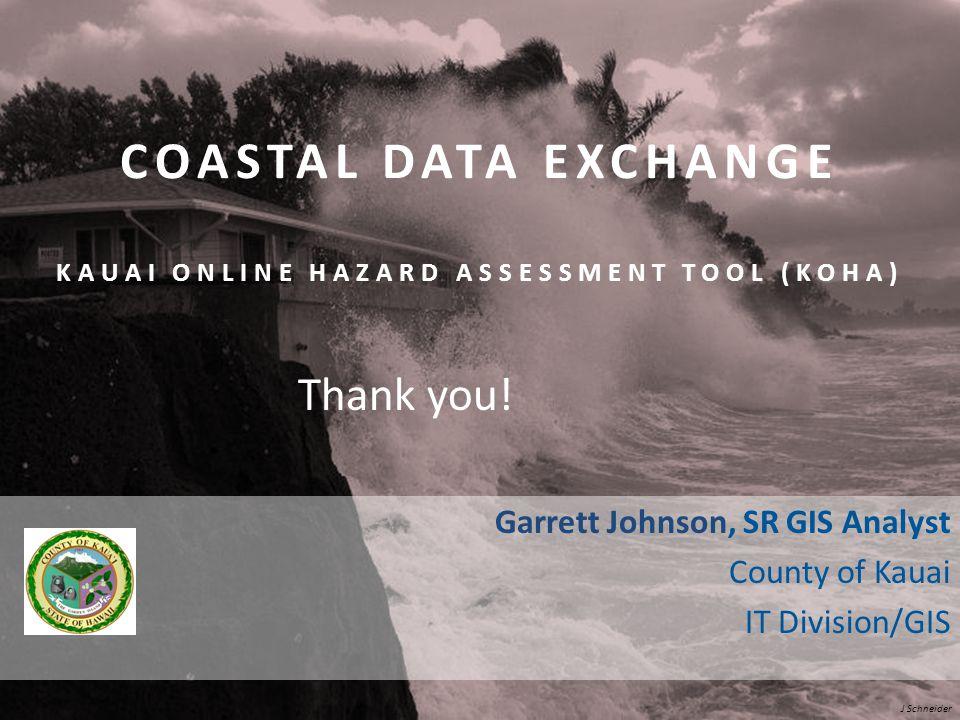 Coastal Data Exchange Kauai Online Hazard Assessment Tool (KOHA)