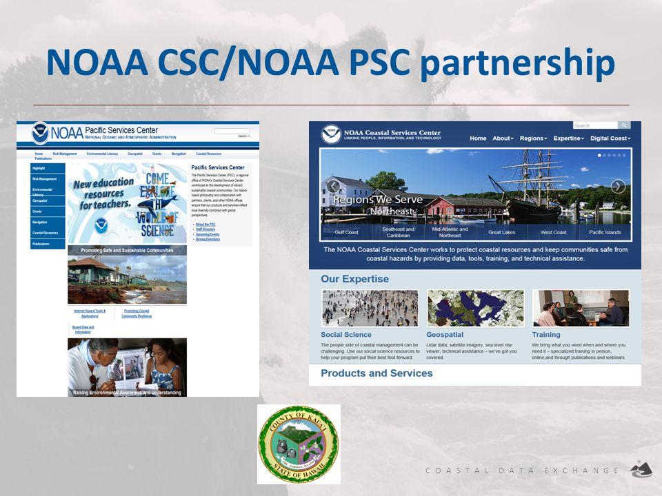 NOAA CSC/NOAA PSC partnership