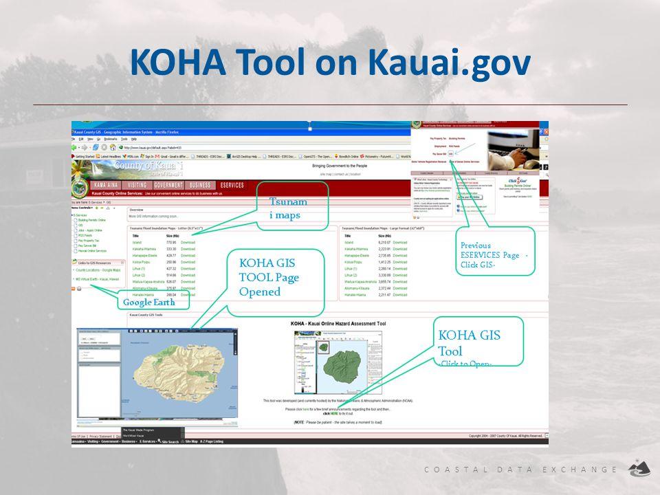 KOHA Tool on Kauai.gov