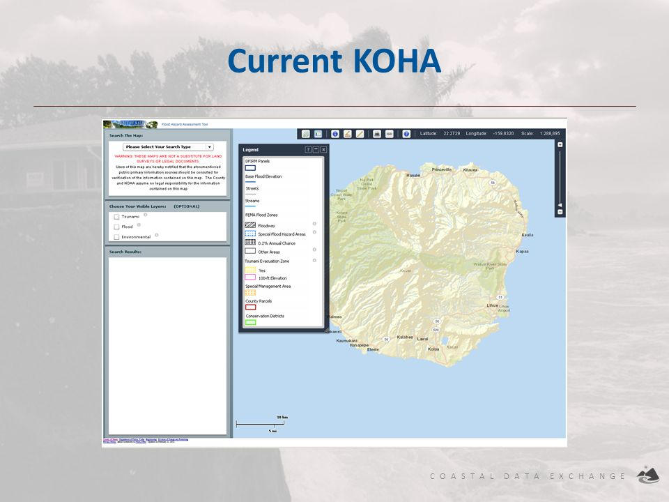Current KOHA ArcGIS Server and Adobe Flex