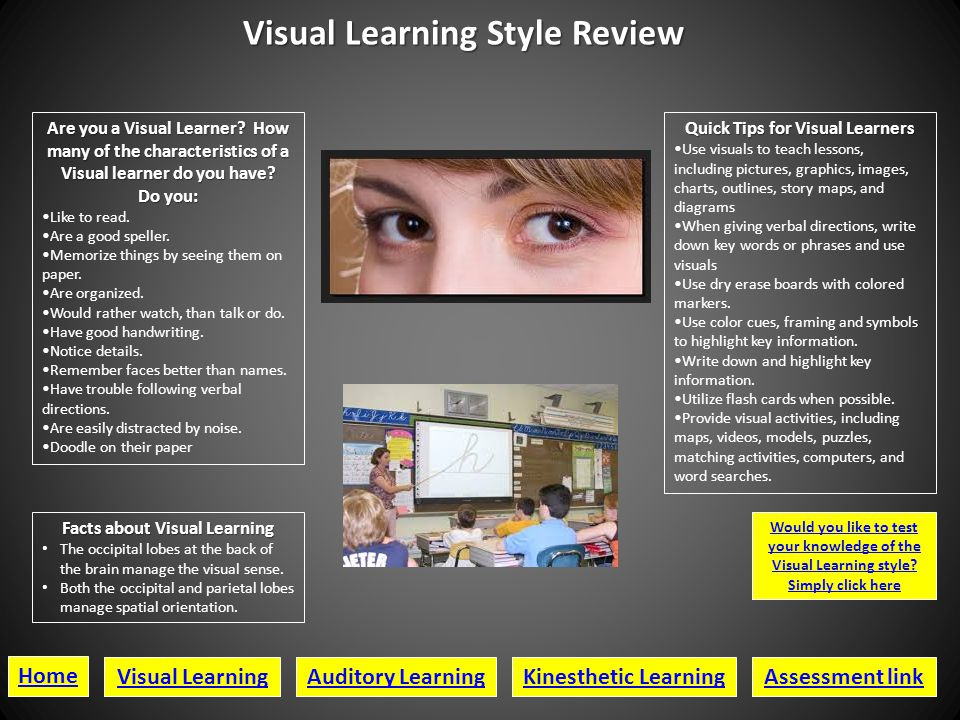 Visual Learning Style Review