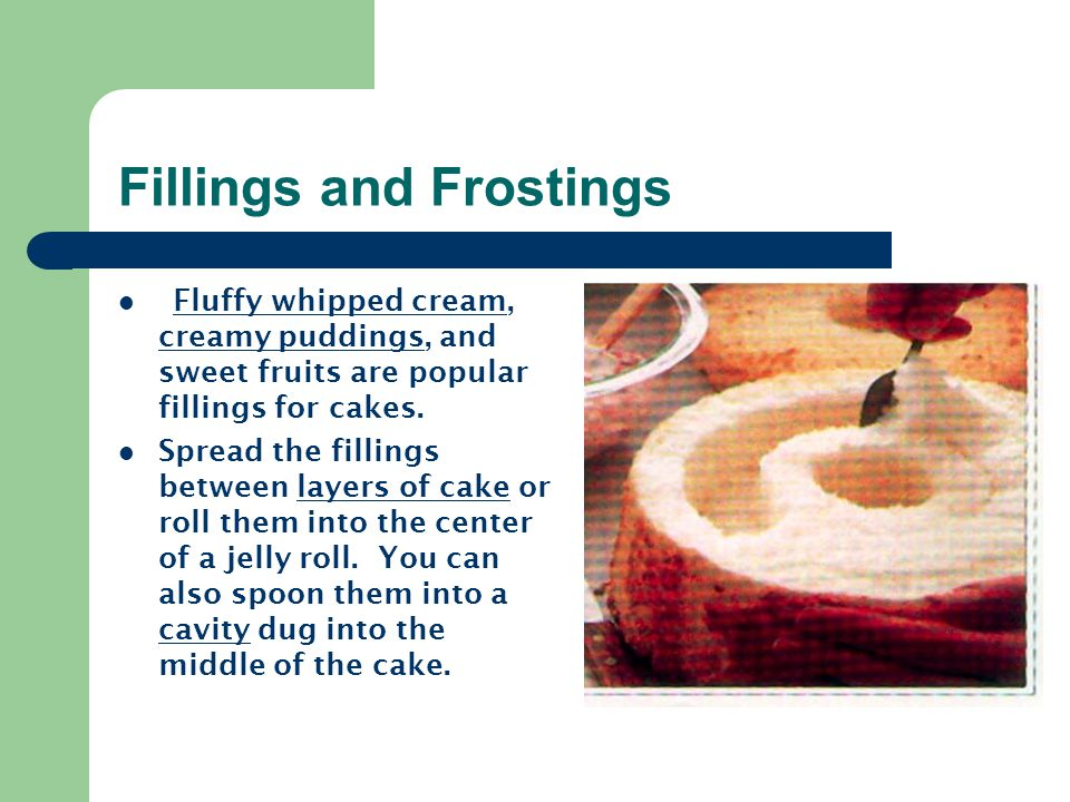 Fillings and Frostings