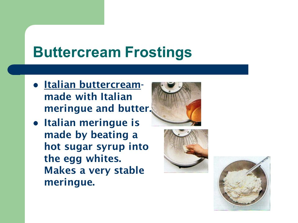 Buttercream Frostings
