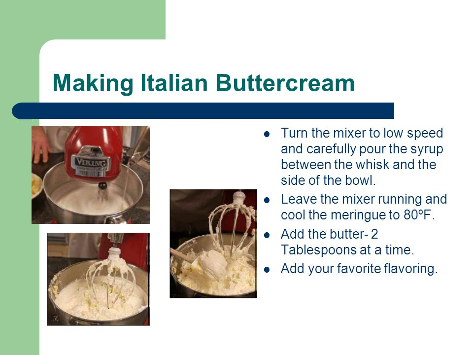 Making Italian Buttercream