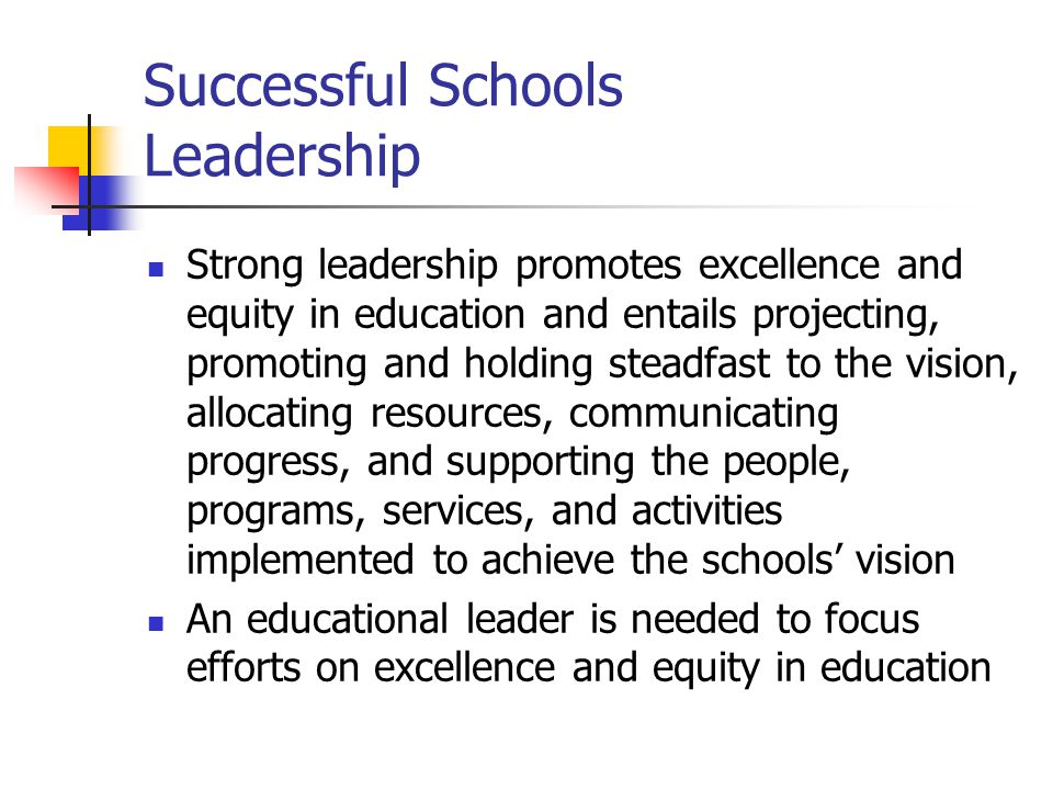 Successful Schools Leadership