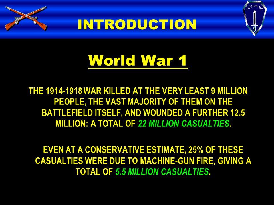 World War 1 INTRODUCTION