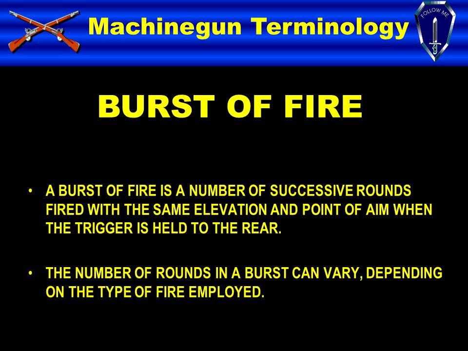 BURST OF FIRE Machinegun Terminology