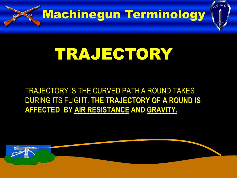 TRAJECTORY Machinegun Terminology